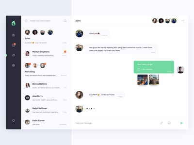 Direct Messaging dailyui messages chat messaging ux ui web