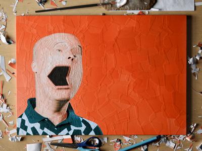L'ADN 22 cover art, studio studio paper art portrait cover art collage art violaineetjeremy ladn