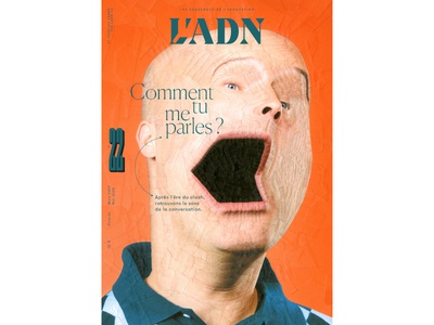 L'ADN 22 cover art 22 mouth collage art paper collage portrait illustration paper collage cover art art cover