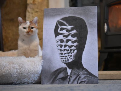 Rand, Charlie eye portrait charlie eyes cat