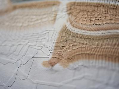Charlie 31, detail collage paper studio detail