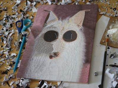 Odie, studio eyes dogs dog portrait illustration collage