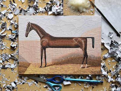 Lollypop, studio equine horses horse collage studio llustration