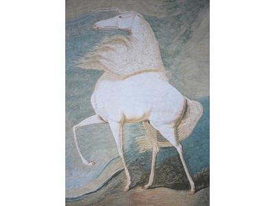 After James Ward equine art equestrian art paper collage horse art horse illustration illustration horses horse