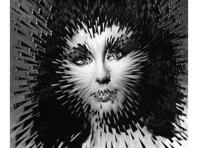 Elizabeth Taylor as Cleopatra cleopatra elizabeth taylor collage paper illustration portrait