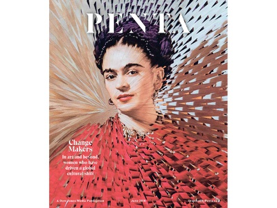 Penta Magazine Frida Kahlo penta collage paper portrait nicholasmuray fridakahlo