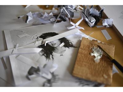 Lola Dupre x Frances de Lourdes collage paper studio scissors