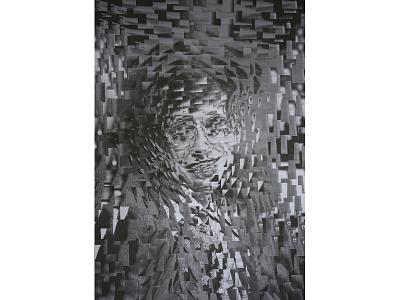 Stephen Hawking eyes collage art paper collage illustration paper collage portrait art stephenhawking stephen hawking
