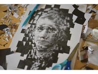 Marie Curie, wip, studio