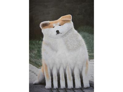 Thick Cheeks collage art art portrait paper collage illustration paper collage dog portrait canine dog dogs