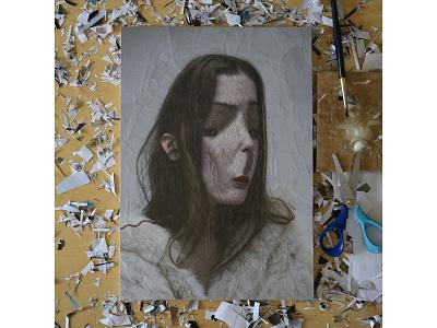 Studio, Untitled portrait, Lola Dupre and Tre Koch greece patras illustration art paper portrait
