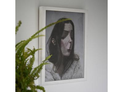 Framed, Untitled Portrait, Lola Dupre and Tre Koch portraits portrait illustration paper collage art