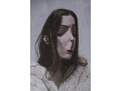 Untitled Portrait, Lola Dupre and Tre Koch eyes illustrations hair paper paper art portraits portrait illustration
