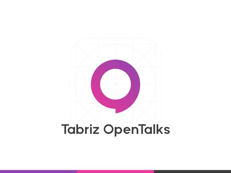 Tabriz OpenTalks Logo logotype opentalk community iran brand identity branding brand logo
