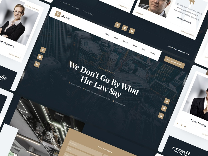 Bylaw - Law Firm Website Template legal lawfirm attorney law webdesign template website webflow