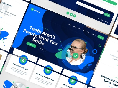 Maxilla - Dentist Website Template dentistry dental clinic dental dentist template webdesign website webflow
