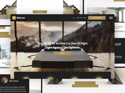 Bellcast - Architecture Website Template architecture design studio interior design architect architecture web design template website webflow