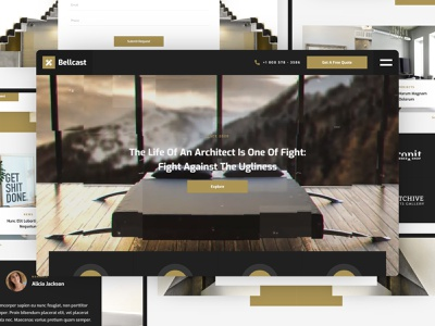Bellcast - Architecture Website Template architecture design studio interior design architect architecture web design template website webflow