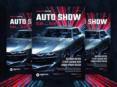 Auto Show Flyer/Poster showroom exposition expo car show car auto show auto flyer template poster flyer