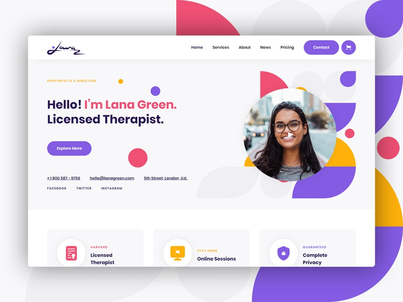 Lana  - Therapy Website Template coaches trainer psychologist psychology therapist therapy template webdesign website webflow