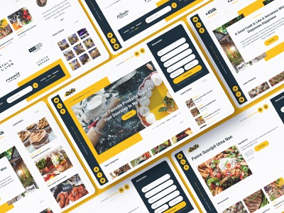 Grilla - Restaurant Website Template delivery bar grill pub fastfood food coffeeshop bakery restaurant template webdesign website webflow
