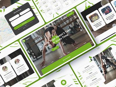 Yogart - Yoga Website Template health sport gym studio fitness beauty yoga template website ecommerce webflow
