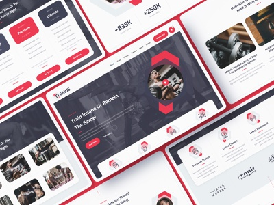 Clemus - Gym Website Template ecommerce shop store health sport fitness gym template webdesign website webflow