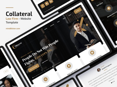 Collateral - Law Firm Website Template business corporate consulting legal attorney lawyert law firm law template website webdesig webflow
