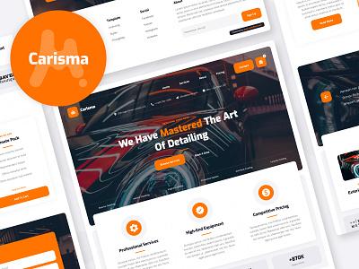 Carisma - Car Wash Website Template service car service car detailing car wash automotive auto car template ecommerce website webflow