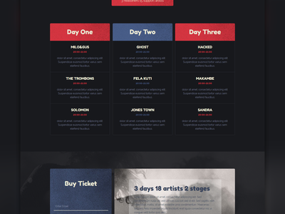 Musefest - Music Festival Muse Template concert event festival music one page responsive theme template muse adobe