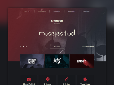 Musefest - Music Festival Muse Template by pixuzu - Dribbble
