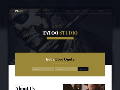 Inkess - Tattoo Studio Muse Template