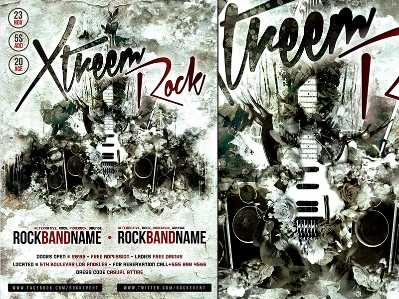 Free Rock Flyer Poster Template Vol.1