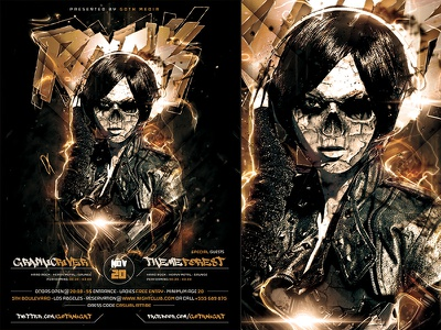 Gothic Rock Poster Template template rock psd poster party metal heavy gothic flyer festival concert a4
