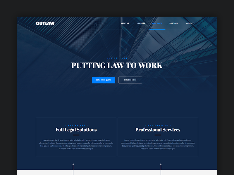Outlaw - Adobe Muse Template by Mindblister on Dribbble