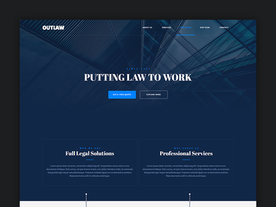 Outlaw - Adobe Muse Template muse template landing page responsive law firm attorney legal consultant lawyer business