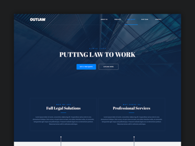 Outlaw - Adobe Muse Template