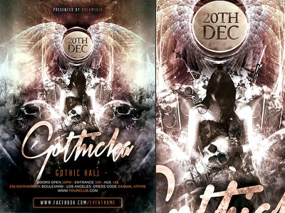 Gothic Rock Poster Template a4 concert festival flyer gothic heavy metal party poster psd rock template