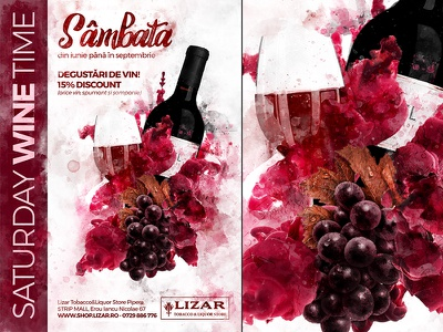 Wine Poster photoshop psd a4 poster flyer design template grapes event festival love wine