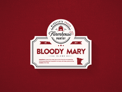 Bloody Mary Label logo blend mix design label sticker cocktails cocktail bloody mary
