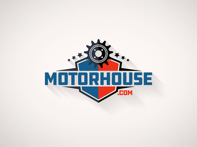 Car Shop Logo stiker badge gears gear logo automotive garage shop auto car