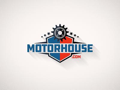 Car Shop Logo stiker badge gears gear logo automotive garage shop auto car