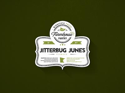 Pikcles Label design logo sticker label pickles