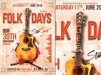 Folk Concert Flyer Template