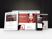 Naomi   beauty salon landing page template preview