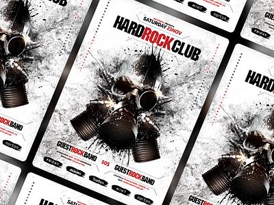 Rock Flyer/Poster template invitation poster flyer hard rock rock