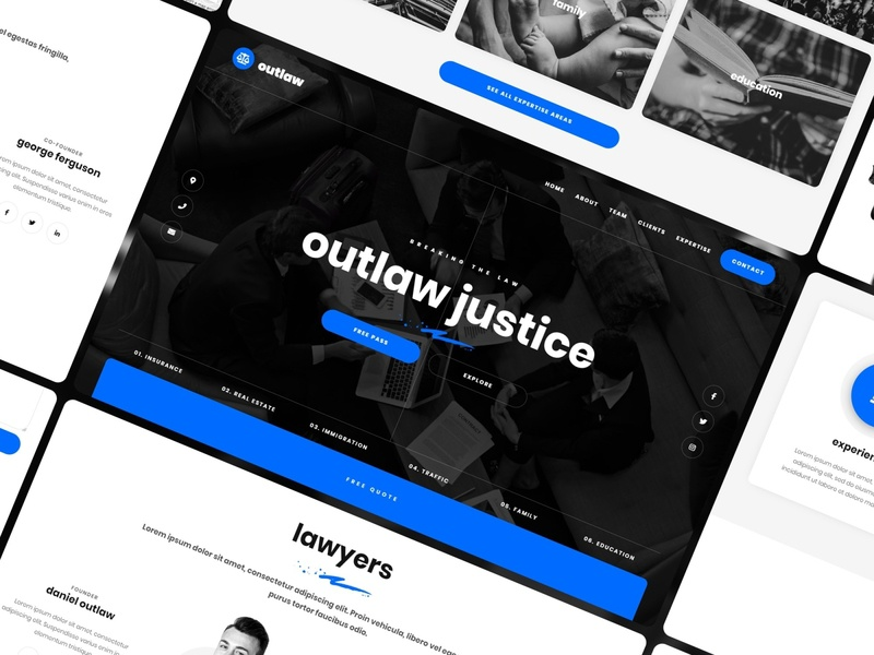 Outlaw - Law Firm Website Template lawfirm lawyer legal law template website webdesign webflow
