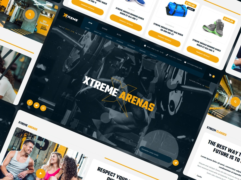 Xtreme - Gym Ecommerce Website Template exercise health crossfit workout sport fitness gym template website webdesign webflow