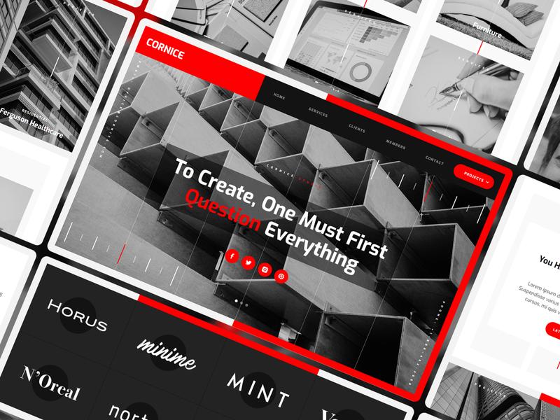Cornice - Architectue Website Template studio architect architecture template website webdesign webflow