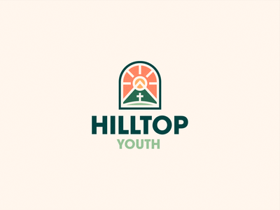 Hilltop Youth Group Logo church branding illustration emblem logodesign church logo youth group logo logo